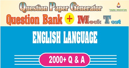 English Language Question Bank + Mock Test + Question Paper Generator