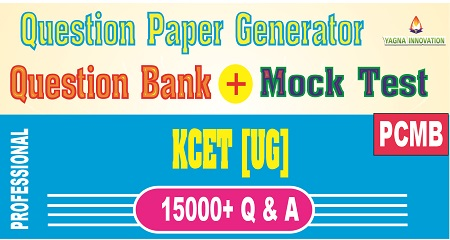 KCET PCMB Question Bank + Mock Test + Question Paper Generator