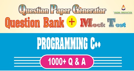 Program C++ Question Bank + Mock Test + Question Paper Generator